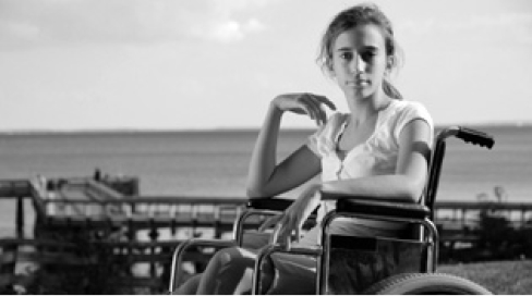 girl on wheelchair